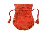 Thaily - Brokat Beutel für Schmuck und Malas rot