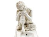 Räucherstäbchenhalter Buddha ruhend weiß