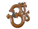 Om Symbol aus Holz - Wandbehang beige