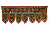Indischer Türbehang Toran grün