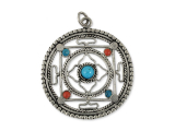 Anhänger Amulett Filigran Kalachakra Mandala