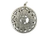 Anhänger Amulett mit acht Glückssymbole und Om Symbol