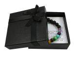 Chakra Armband mit Lavastein Perlen
