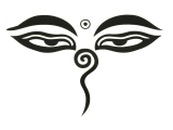 Aufkleber Sticker - Allsehenden Augen Buddhas