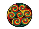 Aufnäher / Patches - Triskele Spirale Reggae