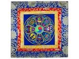 Altardecke acht tibetische Glückssymbole Brokat viereckig