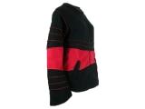 Fleece Jacke mit Zipfelmütze schwarz/rot Goa Psy