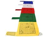 Tibetische Gebetsfahnen vertikal Fahnenmast