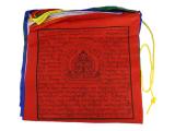 Tibetische Gebetsfahnen 25 Fahnen groß 33 x 33 cm