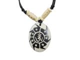 Yak-Knochen Kette - Om Aum Symbol