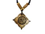 Yak-Knochen Kette mit Om Symbol