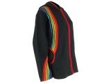Regenbogen Jacke mit Zipfelkapuze schwarz