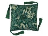 Klangschalenkissen Brokat Drache grün 15 cm