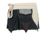 Zipfelrock Wickelrock Batik beige/schwarz