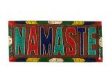 Wandbehang Namaste Holz Steininlay handgeschitzt