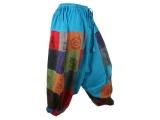 Patchwork Batik Hose Haremshose Shorts kurz bedruckt