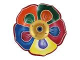 Räucherstäbchenhalter Holz - Lotus bunt 9,5 cm
