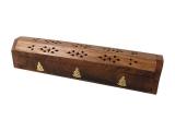 Räucherstäbchenhalter Holz mit Buddha