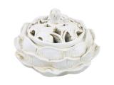 Räucherstäbchenhalter Lotus weiß