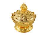 Räuchergefäß Lotus goldfarben