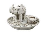 Räucherstäbchenhalter Elefant weiß