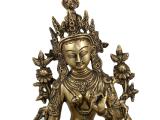 Grüne Tara Buddha Statue Messing 35 cm