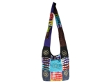 Patchwork Tasche Batik Bunt Peace Spirale