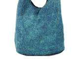 Patchwork Umhängetasche Batik blau