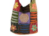 Patchwork Tasche Batik mit Blumen des Lebens