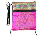 Umhängetaschen aus Brokat mit Mandala Motiv