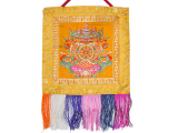 Tibetischer Wandbehang Glückssymbole