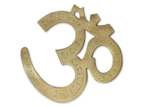 Indischer Wandbehang Om Symbol Messing 20 cm
